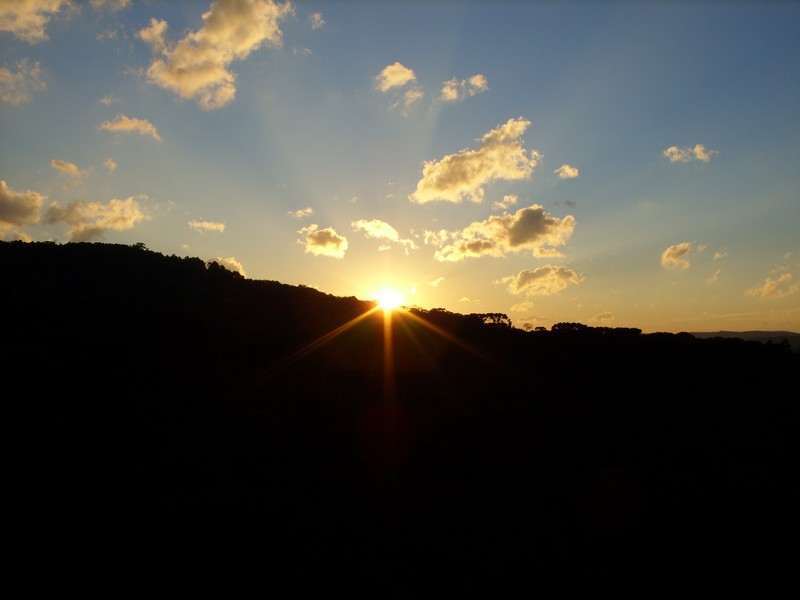 Por do sol Parque do Caracol