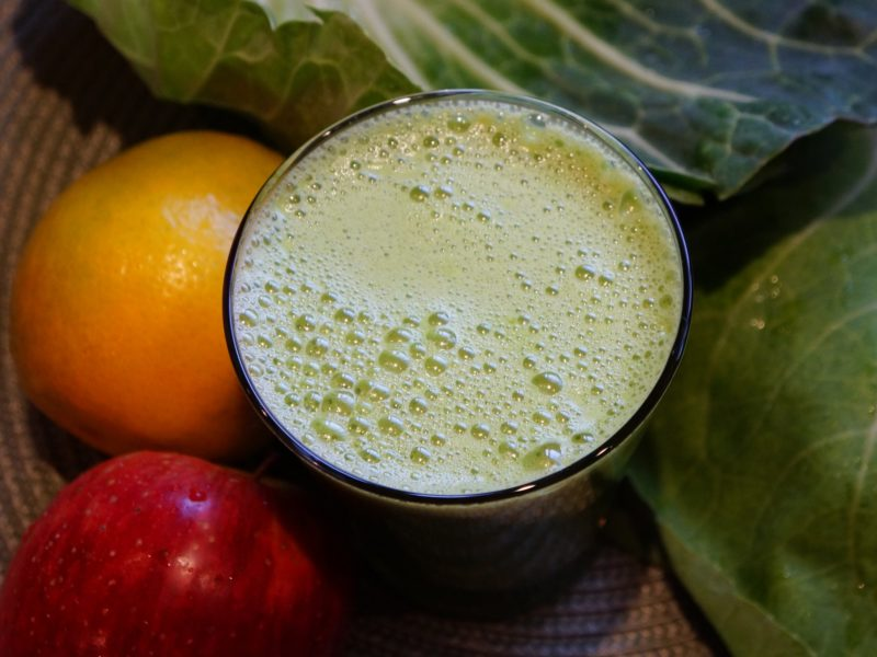 Suco verde cicatrizante e digestivo
