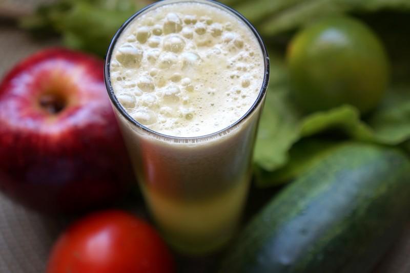 Suco verde antioxidante