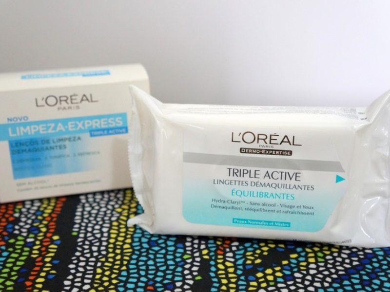 Lenços demaquilantes Triple Active | L'Oréal