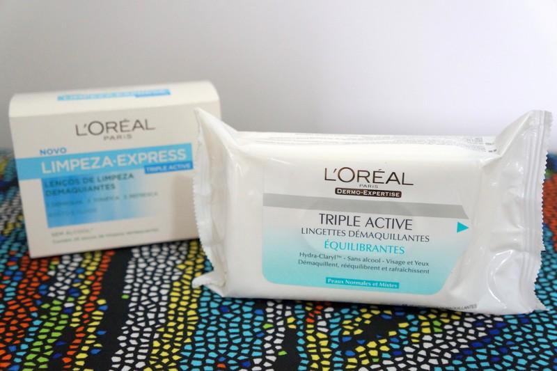 Lenços demaquilantes Triple Active   L'Oréal