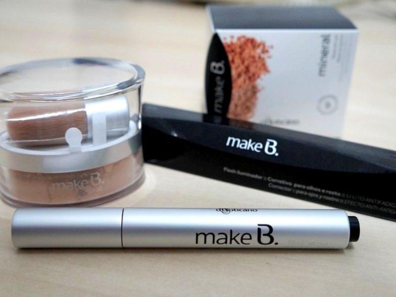 Maquiagem Make B: Mineral Base em pó e Corretivo Flash Iluminador